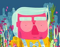 El alegre mes de mayo. Paper cut illustration