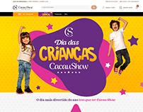 Landing Page Promocional Dia das Crianças Cacau Show