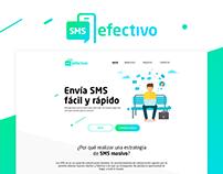 Diseño de website y proceso de compra - SMS Efectivo