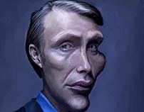 Caricature Mads Mikkelsen (Hannibal) / Illustration