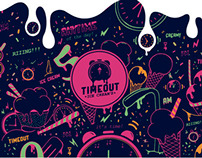 TimeOut. Ice Cream´s    Logo Design
