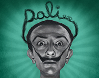 Caricatura Salvador Dalí