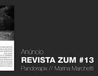 Anúncio Revista Zum #13