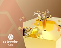 Modelo en 3D para Campaña de navidad Unicentro