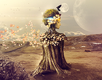 Speed art - Woman Tree