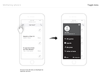 Wireframes mobile and desktop