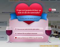 Online digital campaign for Valentine's Day Senac