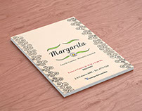 "Flyer- Menú ""Margarita"""
