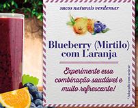 Graphic identity - Juice Blueberry and Orange Flavor