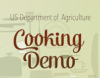 Mailing and menu for cooking demo event