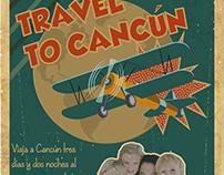 Afiche vintage agencia de viajes
