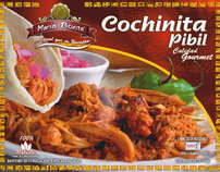 Mexican frozen food package line.