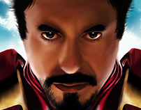 Digital Painting - Tony Stark / Iron Man