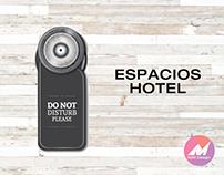 Espacio pensado para un hotel inspirado en J.L.Borges
