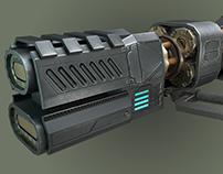 3D Plasma Weapon Lowpoly