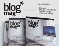 BlogMag Print Magazine that Looks Like a Blog