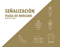 Señalización Plaza de Mercado