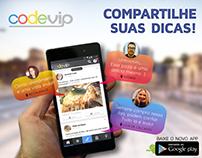 CODEVIP - Midias sociais, banners, folheto