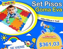 Marketing Digital p/ Fanpage Pisos goma eva, Eva Magic