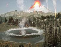 Photomanipulation - Volcano