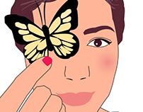 Chica y mariposa