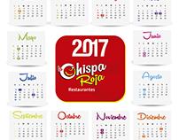 Propuesta Calendarios 2017 Chispa Roja