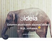 Criação do site Aideia.com baseado no layout enviado.