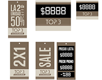 Hantags de precios para marca