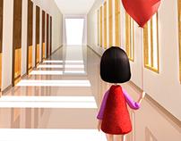 Uma Criança no corredor