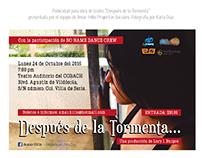 """Publicidad para obra de teatro """"Después de la Tormenta"""""""
