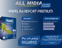 Arte-mail sobre produto REPORT aos clientes Allmidia