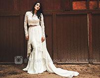 Boho-Chic Romantic Wedding Dress