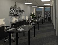 Modelado 3D de oficinas. Corporate Tower - Sta. Fe