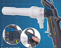 Pistola com controle de tensão