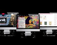 Rediseño sitio web violeta