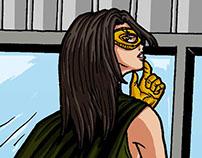 Superhero comic pages