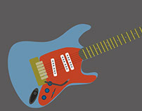 Guitar Parts, motion graphics