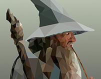 Gandalf low poly