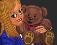Pintura Digital Mangá JS Sarah