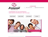 Diseño web | Armonie - Landing page