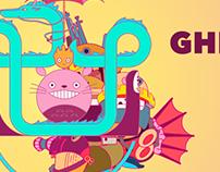 Studio Ghibli Geometric Illustration