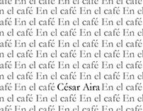 En el café - Cesar Aira (Plaqueta literaria)