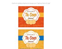 """Diseño de Logotipo y etiquetas para """"Coyotas Ta Coyo"""""""