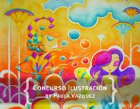 """Ilustración """"Fantasía en Crayón"""" - Concurso"""