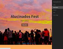 Site para o evento Alucinados Fest