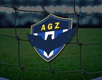 Identidade Visual e Brasão - Time de Futebol AGZ