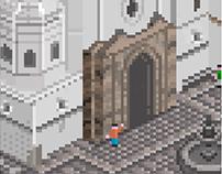Pixel art: Iglesia de Santo Domingo