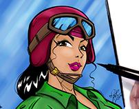Piloto Ilustración