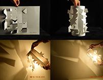 Sombra de relevo em papel