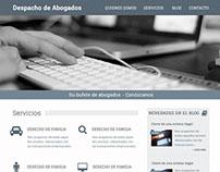 Plantilla psd para una página web de abogados